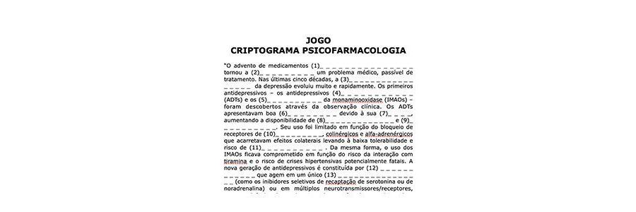 Criptograma Psicofarmacologia